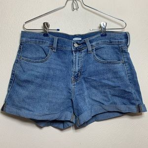 """Old Navy Cuffed 3"""" Jean Shorts Size 8"""
